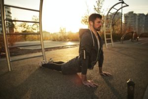 stretching back bones